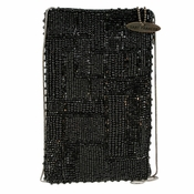 Mary Frances Black Maze Cell Phone/Eye Glasses Pouch