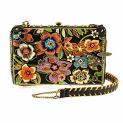 Mary Frances Blossoms Black Handbag
