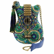 Sold Out - Mary Frances Blue Note Embellished Bag