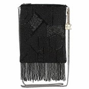 Mary Frances Can't Resist Black Mini Crossbody Bag