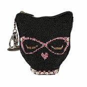 Mary Frances Coin Purse / Key FOB Cool Cat