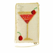 Mary Frances Cosmo Cell Phone Glasses Pouch