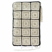 Mary Frances Cross Body Phone / Glasses Pouch Off The Grid Ivory