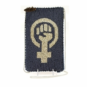 Mary Frances Cross Body Phone / Glasses Pouch Woman Power
