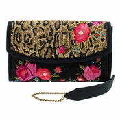 Mary Frances Flowers Gone Wild Embellished Bag