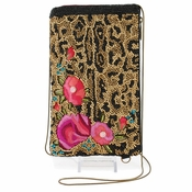 Mary Frances Flowers Gone Wild Cell Phone/Glasses Pouch