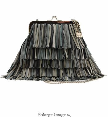 Mary Frances Fringed Out, Black Bag