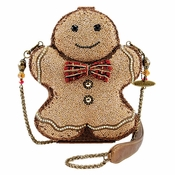 SOLD OUT Mary Frances Gingerbread Man Embellished Bag - CLOSEOUT