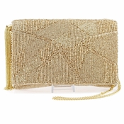 Mary Frances Gold Lining Embellished Bag