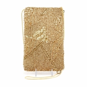 Mary Frances Gold Lining Cell Phone/Glasses Pouch