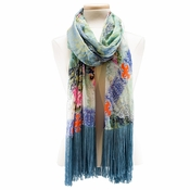 Mary Frances Paisley Punch Scarf
