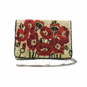Mary Frances Poppies Mini Handbag