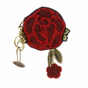 Mary Frances Red Rose Coin Purse