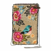 Mary Frances Rose Garden Cell Phone/Glasses Pouch