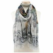 Mary Frances Roses Scarf