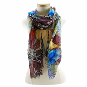 Mary Frances Scarf Cool Bloom