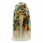 Mary Frances Scarf Tribal Feather