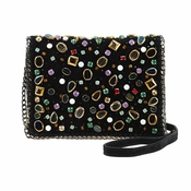 Mary Frances Shattered Black Mini Bag