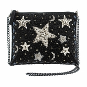 Mary Frances Shooting Stars, Black Mini Bag