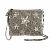 Mary Frances Shooting Stars, Pewter Mini Bag