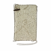 Mary Frances Silver Lining Cell Phone Glasses Pouch
