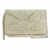 Mary Frances Silver Lining Clutch