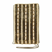 Mary Frances Stripe It Cream Cell Phone Glasses Pouch