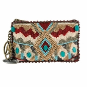 Mary Frances Turquoise Power - Coin Purse