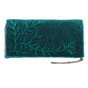 Mary Frances Willow, Teal Embellished Bag