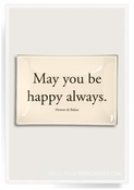 May You Be Happy Always Decoupage Glass 9x14 Tray