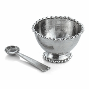 Michael Aram Molten Frost Condiment Dish with Spoon