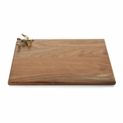 Michael Aram Olive Branch Gold Oversized Wood Serving Board