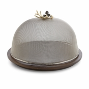 Michael Aram Olive Branch Mesh Dome w/ Wood Base