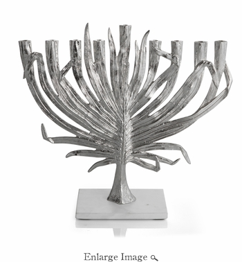 Michael Aram Palm Menorah Nickelplate
