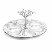 Michael Aram Tree of Life Glass 6 Compartment Plate