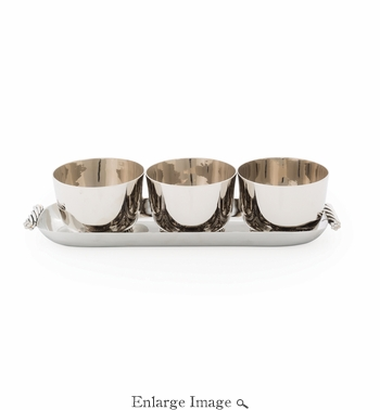 Michael Aram Twist Triple Bowl Set w/ Tray