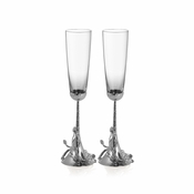 Michael Aram White Orchid Toasting Flutes