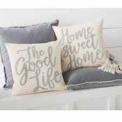 Good Life Canvas & Felt Pillows Set of 2