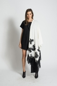 Muche et Muchette Kate Shawl Lace Embroidery - White/Black