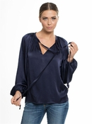 Muche et Muchette Michael Top - Satin Navy