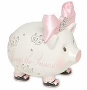 SOLD OUT - Mud Pie Princess Jeweled Bank - Shipping May