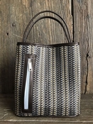 Multi Metallic Woven/ Bronze Handle Classic