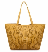 Celine Perforated Bag-In-Bag Tote Mustard - CLOSEOUT