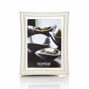 "Nambe Beaded Frame 5"" x 7"" - Silver Plate"