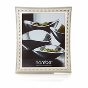 "Nambe Beaded Frame 8"" x 10"" - Silver Plate"