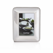 "Nambe Braid Frame 4"" x 6"" - Chrome Plate"
