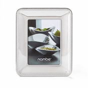 "Nambe Braid Frame 5"" x 7"" - Chrome Plate"