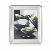 "Nambe Braid Frame 8"" x 10"" - Chrome Plate"