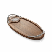Nambe Braid Serving Board with Dip Dish