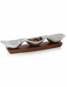 Nambe Drift Condiment Server
